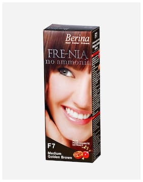 Berina F8 Light Golden Brown Fre-Nia Hair Color Cream 60 g (Pack Of 1)