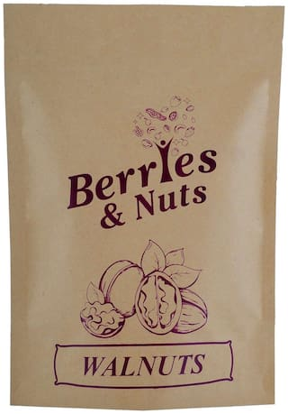 Berries And Nuts Premium Jumbo Kashmiri Walnut Kernels (Akrot Magaz) 500 Grams