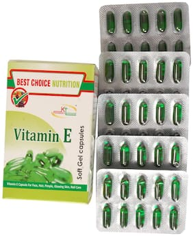 Best Choice Nutrition Glow Face Hair Pimple Glowing Skin Nail Care Vitamin E Capsule