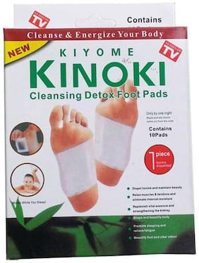 Best Deal For Your Foot Care Kinoki Cleansing Toxins Remover Detox Foot Patches 10 Adhesive Pads Kit In Each Pack (Pack Of 2)