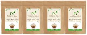 Best Quality Finger Millet Flour/ Ragi Atta - 1kg ( Pack of 4)