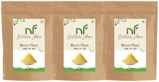 Best Quality Maize Flour/Corn Flour/ Makka Atta -1kg (Pack of 3)