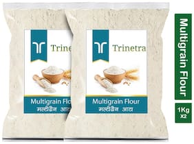 Trinetra Best Quality Multigrain Atta (Multigrain Flour) 1kg (Pack Of 2)