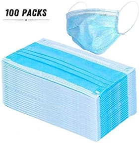 Bestway Disposable 3ply Non Woven Dust Face Mask (Pack of 100)