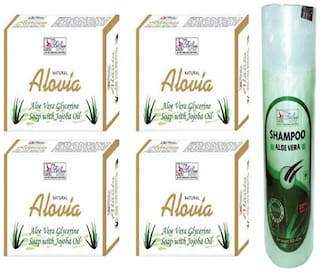 BeSure Aloe Vera Soap (Pack of 4)(Soap 125 g) With Aloe Vera Shampoo 200 ml