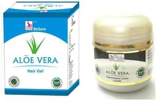 BeSure Aloe Vera Hair Gel With Pi gm entation Cream