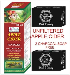 BeSure Apple Cider Vinegar-Unfiltered Syrup 500 ml -2 Charcoal Soap Free