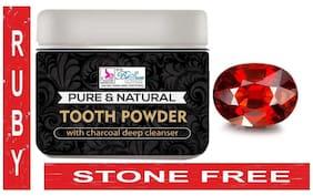 BeSure Tooth Whitening Charcoal Powder Aloe Vera Clove Teeth Whitening Powder -60 gm - 1 Ruby Stone Free