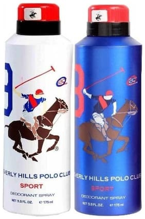 Beverly Hills Polo Club Combo No 8 9 Deodorant For Men 175 ml (Set Of 2)