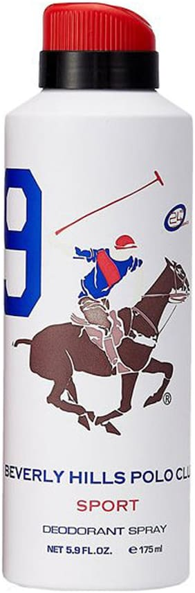 Beverly Hills Polo Club No. 9 Deodorant Spray for Men (Pack Of 1)