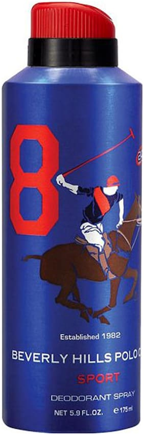Beverly Hills Polo Club No. 8 Deodorant Spray for Men (Pack Of 1)