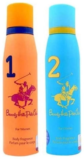 Beverly Hills Polo Club Women Deo No. 1 And 2 (Pack Of 2 )- For Women - 150 ml Each