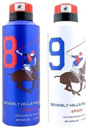 Beverly Hills Polo Club Sport Deo No. 8 And 9 (Pack Of 2)-For Men -175Ml Each