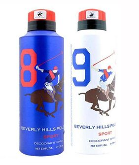Beverly Hills Polo Club Combo No 8 9 Deodorant For Men 175Ml (Set Of 2)
