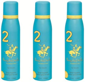 Beverly Hills Polo Club Deodorant Spray No 2 (Pack Of 3) For Women (450Ml)