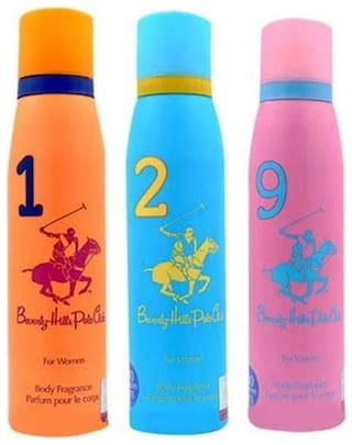 Beverly Hills Polo Club Women Deo No. 1 2 9 (Pack Of 3) -For Women -150 ml Each