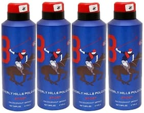 Beverly Hills Polo Club Combo No 8 Deodorant For Men (Set Of 4) 175Ml Each