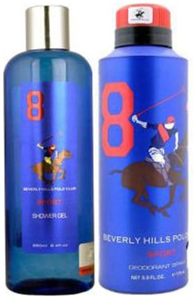 Beverly Hills Polo Club Bhpc Sport Men No-8 Shower Gel 250 ml And Deodorant 175 ml