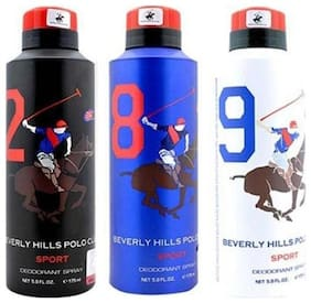 Beverly Hills Polo Club Sport Deo No. 2 8 9(Pack Of 3) -For Men -175ml Each