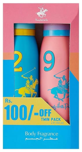 Beverly Hills Polo Club Deodorants Twin Pack - For Women