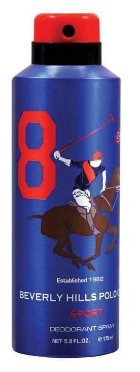 Beverly Hills Polo Club Deodorants No.8 -Men (175 Ml)