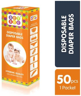 Bey Bee - Baby Diaper Disposable Bags / Sacks ( 1 Pack 50 Bags)