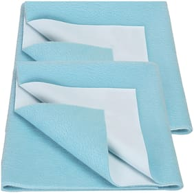 Bey Bee Bed Protector Sheet Sea Blue (Small Pack of 2)