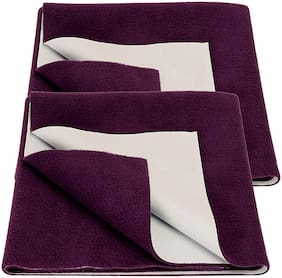 Bey Bee Bed Protector Sheet Plum( Large Pack of 2)