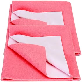 Bey Bee Bed Protector Sheet Salmon Rose Small Pack of 2 (Each Size : 50 cm x 70 cm)