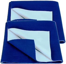 Bey Bee Bed Protector Sheet Royal Blue (Medium Pack of 2 )