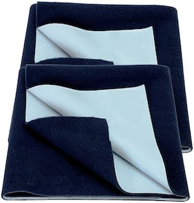 Bey Bee Bed Protector Sheet Dark Blue (Medium Pack of 2 )