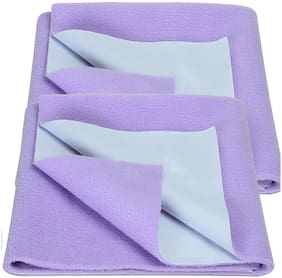 Bey Bee Bed Protector Sheet Purple( Large Pack of 2)