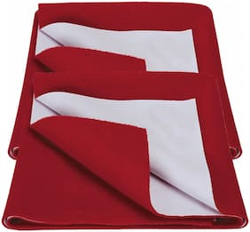 Bey Bee Bed Protector Sheet Red (Medium Pack of 2 )