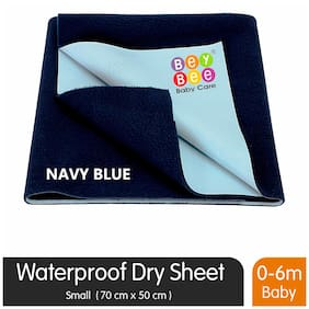 Bey bee Just Dry Waterproof Bed Protector - Small (Dark Blue)