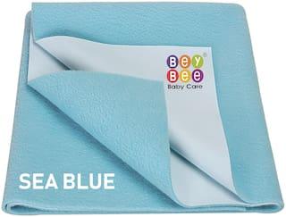 Bey bee Just Dry Bed Protector Baby Mats Waterproof Sheet for New Born Babies Medium (100 cm X 70 cm);Dark Sea Blue