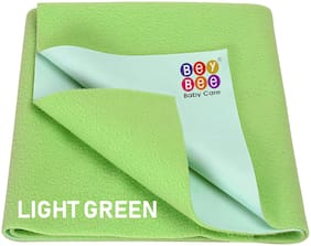 Bey bee Just Dry Baby Care Waterproof Bed Protector Sheet - Large (Light Green)