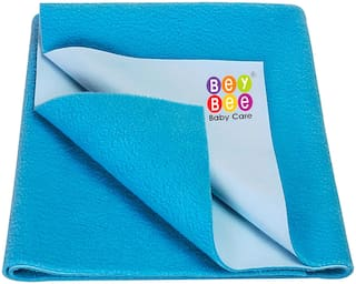 Bey Bee New Born Baby Dry Sheet Completely Water Proof and Bed Protector Dry Sheet -Firoza, Small Size (70 cm X 50 cm)