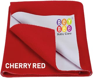 Bey bee Quickly Dry Waterproof Double Bed Protector Sheet - X-Large (Red)