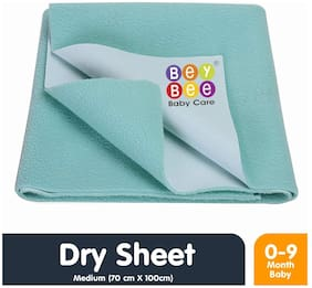 Bey Bee Quick Dry Baby Bed Protector Waterproof Sheet - Medium (Sea Green)