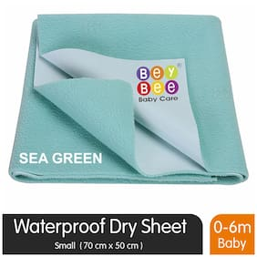 Bey bee Waterproof Bed Protector for New Born Babies and Kids (Small;Sea Green)