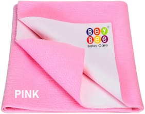Bey bee Waterproof Double Bed Protector Sheet - X-Large (Pink)