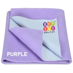 Bey bee Waterproof Baby Bed Protector Dry Sheet for New Born Babies (X-Large (200cm X 140cm);Purple)