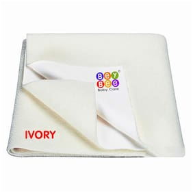 Bey bee Water Resistant Bed Protector Baby Dry Sheet with Ultra absorbance -Large (140 cm X 100cm);Ivory