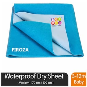 Bey bee Waterproof Bed Protector for New Born Babies and Kids (Medium;Firoza)