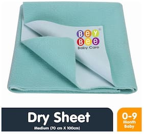 Bey Bee Waterproof Baby Bed Protector Dry sheet for new born Babies - Medium Size (100 cm X 70 cm)