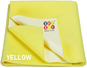 Bey bee Waterproof Bed Protector Baby Dry Sheet;Medium;Yellow