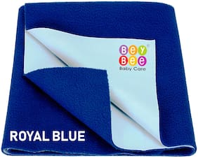 Bey bee Waterproof Baby Bed Protector Dry Sheet for New Born Babies (Large (140cm X 100 cm);Royal Blue)