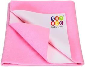 Bey Bee Waterproof Baby Bed Protector Dry Sheet for New Born Babies, Pink - Small Size (70 cm X 50 cm)