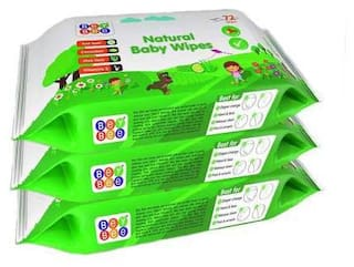 Beybee Cucumber and Aloe Vera Baby Wet Wipes Combo Offer (72 Wipes) (Pack of 3)