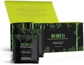 Beyondarie Wild Green Tea with Lemongrass and Black Pepper (Tea Pyramids) 50g (Pack of 1)